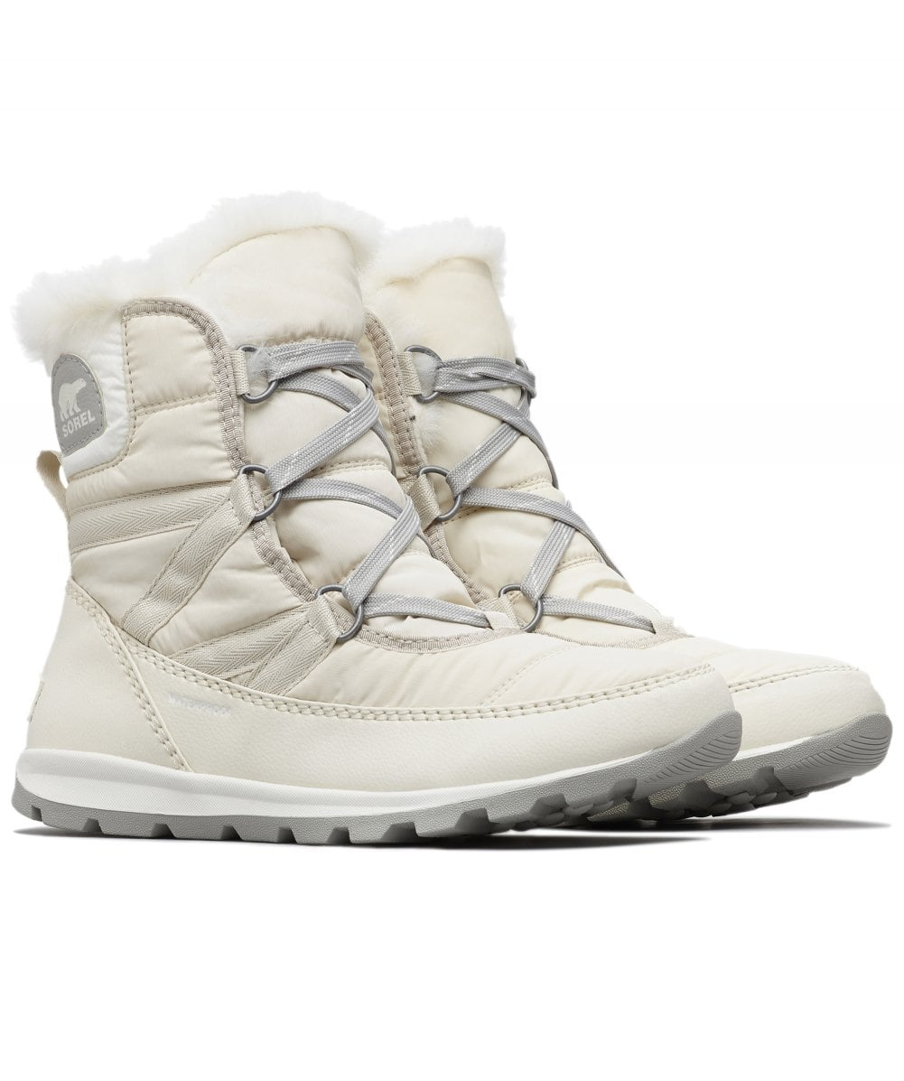 Sorel WHITNEY SHORT LACE White Womens Boots On Sale