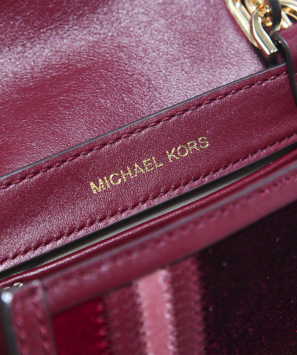 4eecca849a MICHAEL Michael Kors Red Mini Whitney Leather Messenger Bag
