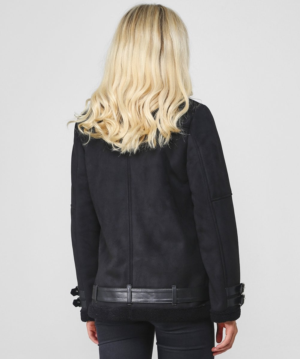 Rino and Pelle Black Faux Suede Rimmy Acne Jacket   Jules B c3d8e684f35