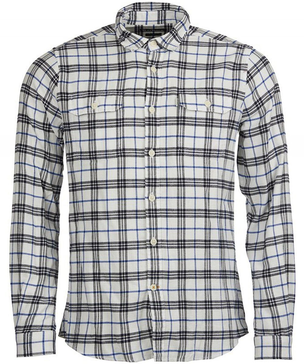 ad3e02c150f Barbour Navy Tailored Fit Check Albion Shirt