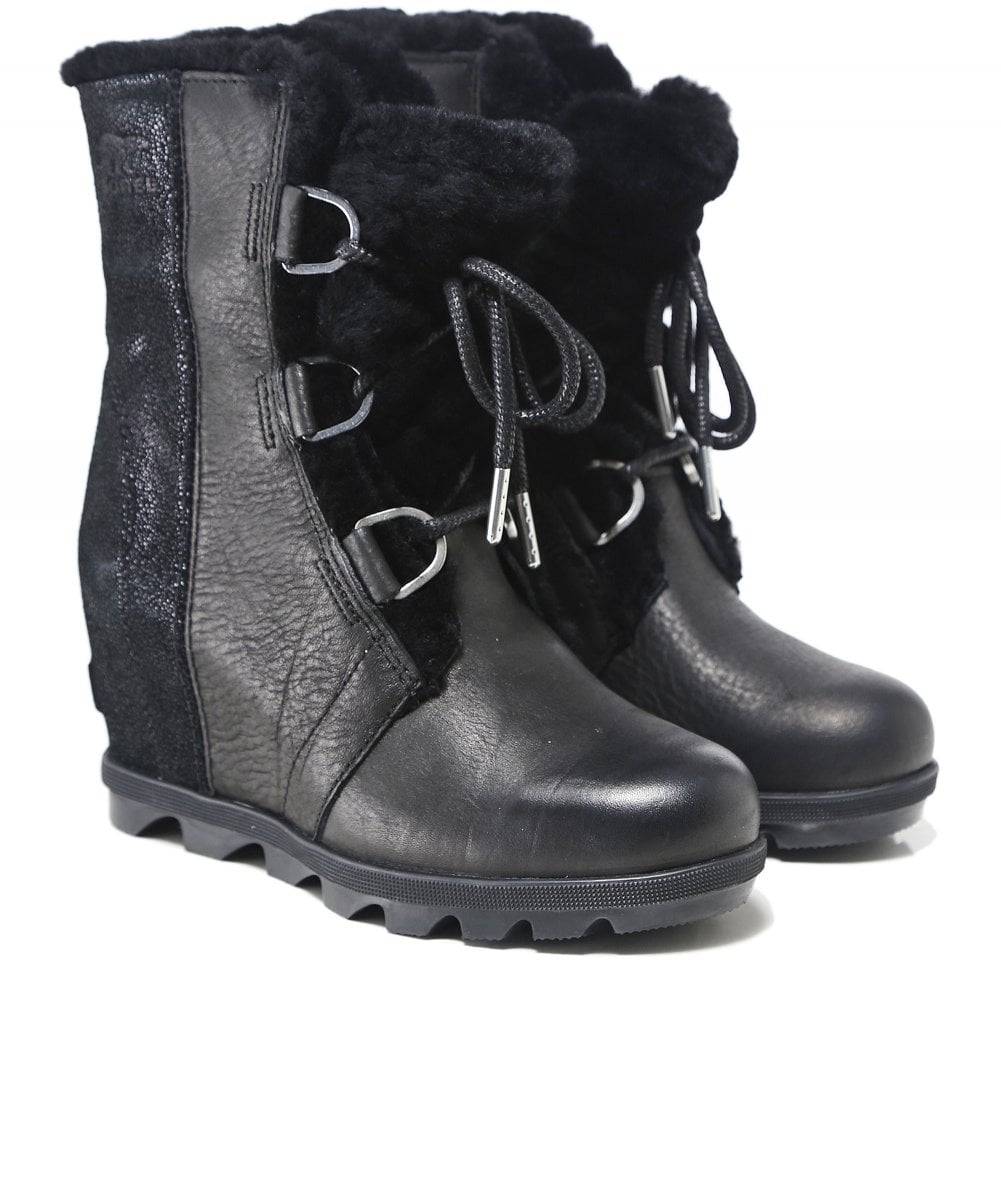e57c193c608f Sorel Leather Joan of Arctic Wedge II Lux Shearling Boots