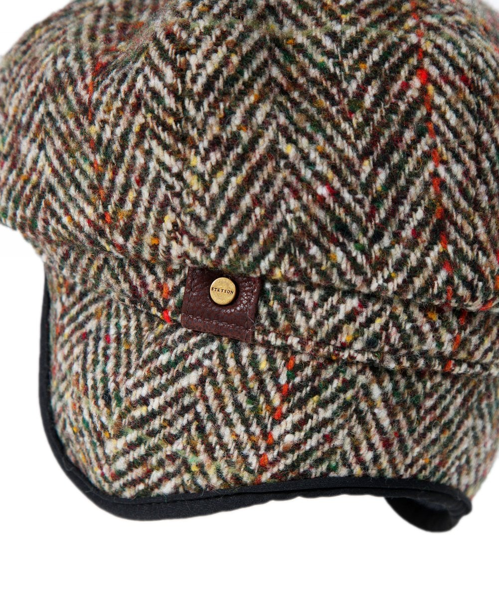 cb2329565de Stetson Brown Virgin Wool Hatteras Herringbone Cap