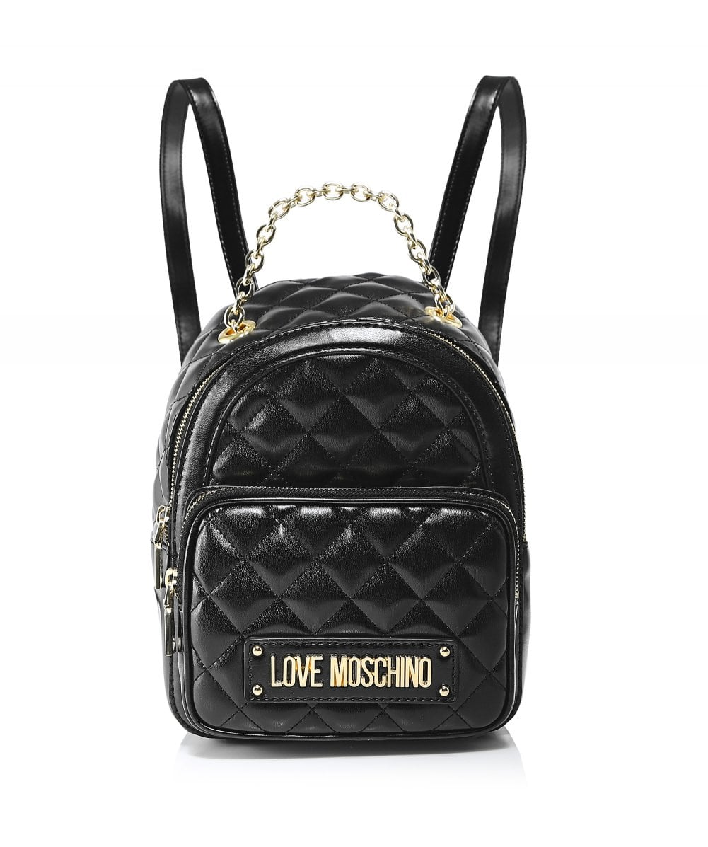 2eded307e6 Moschino Love Moschino Black Small Quilted Backpack | Jules B