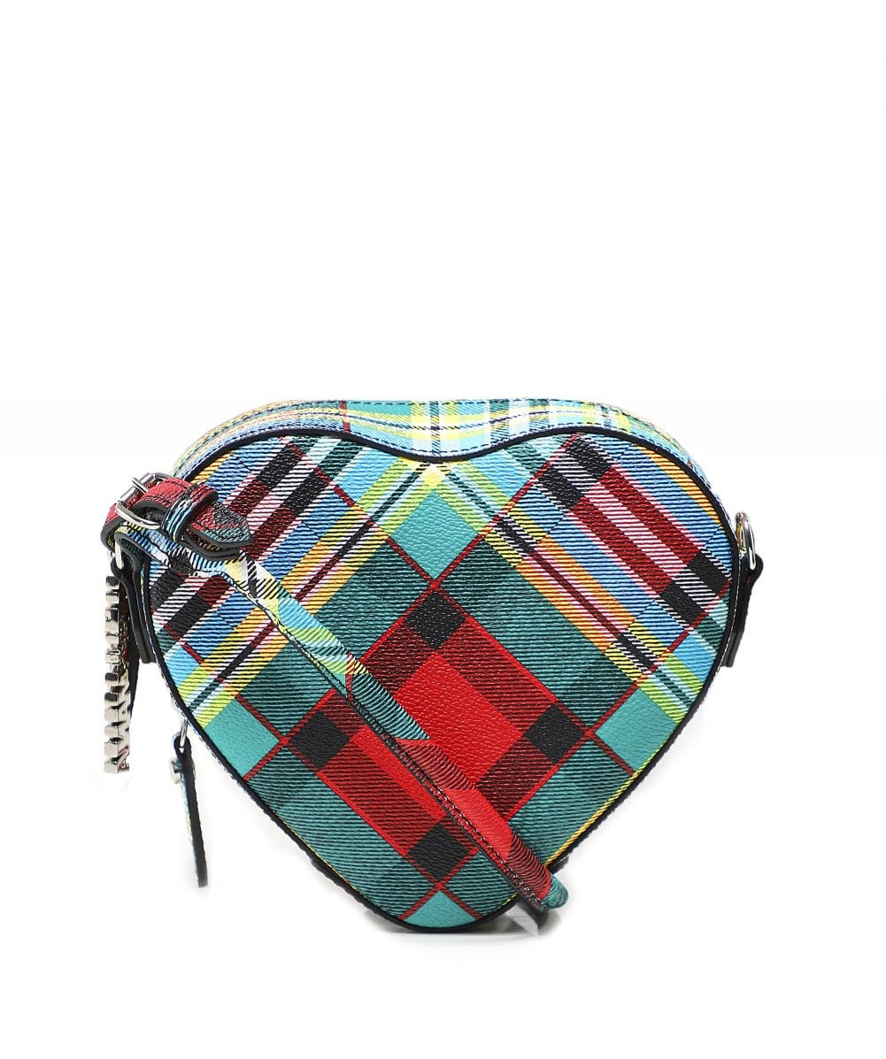 5bc61629d76b Vivienne Westwood Leather Shuka Tartan Cross Body Heart Bag