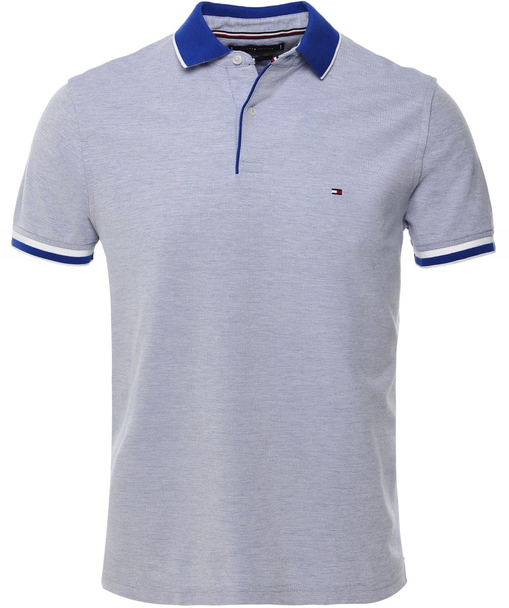 Tommy Hilfiger Logo Blue Polo Shirt