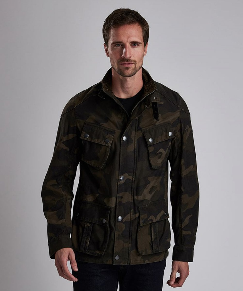 5e285bbca4845 Barbour International Washed Cotton Camo Jacket | Jules B