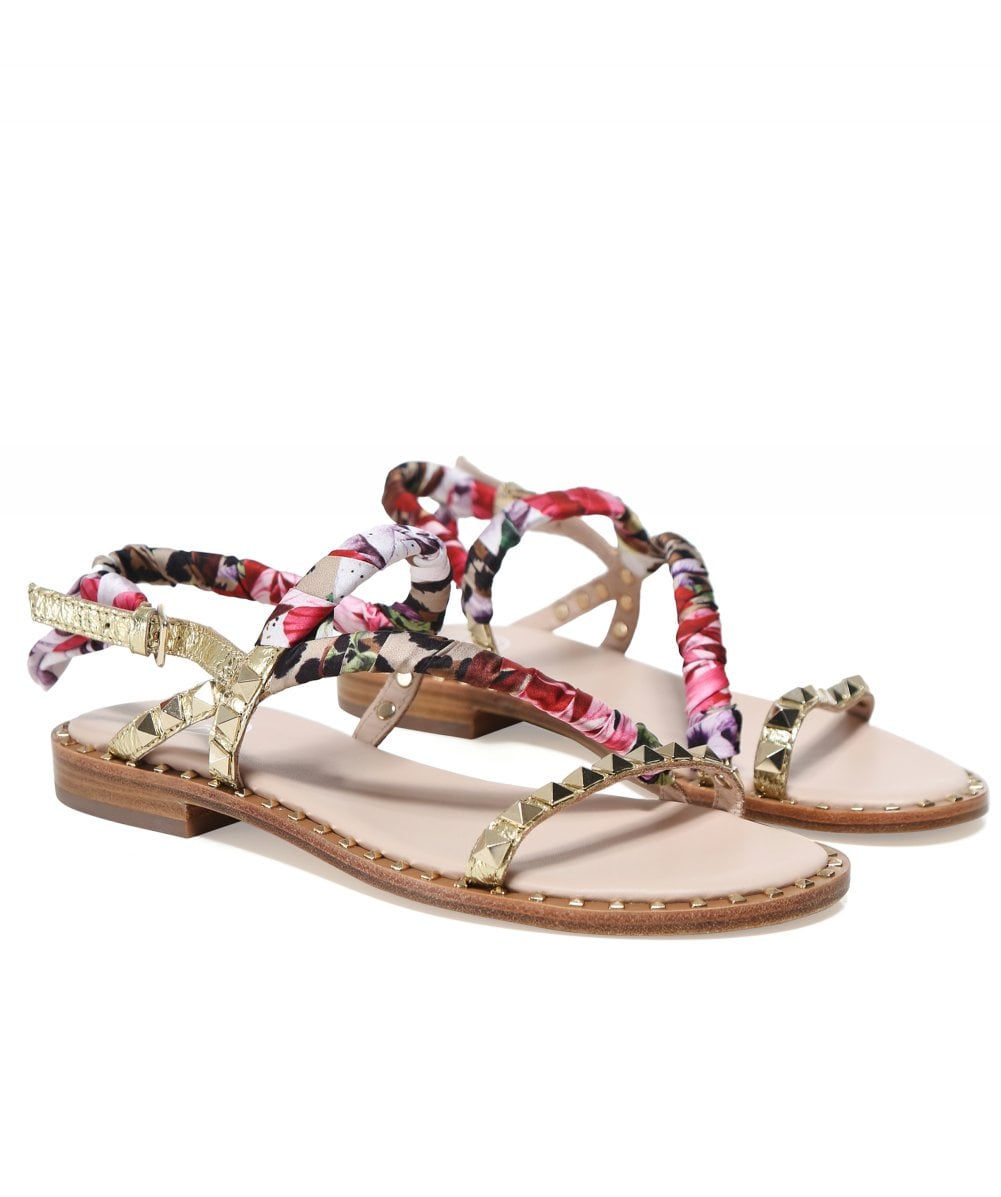 2cced0a58 Ash Gold Leather Pattaya Sandals | Jules B