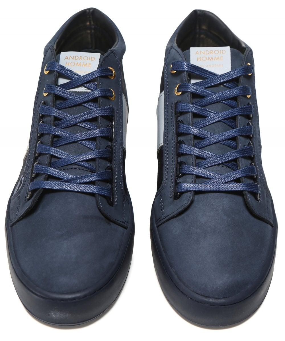 34ee9cccf2f0 Android Homme Navy Camouflage Propulsion Mid Geo Trainers