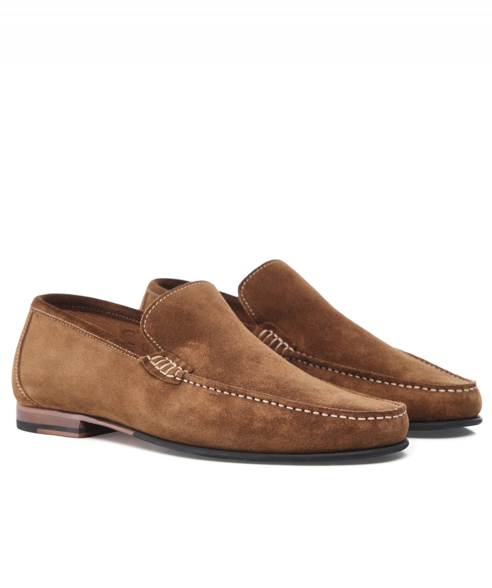 Loake Brown Suede Nicholson Loafers