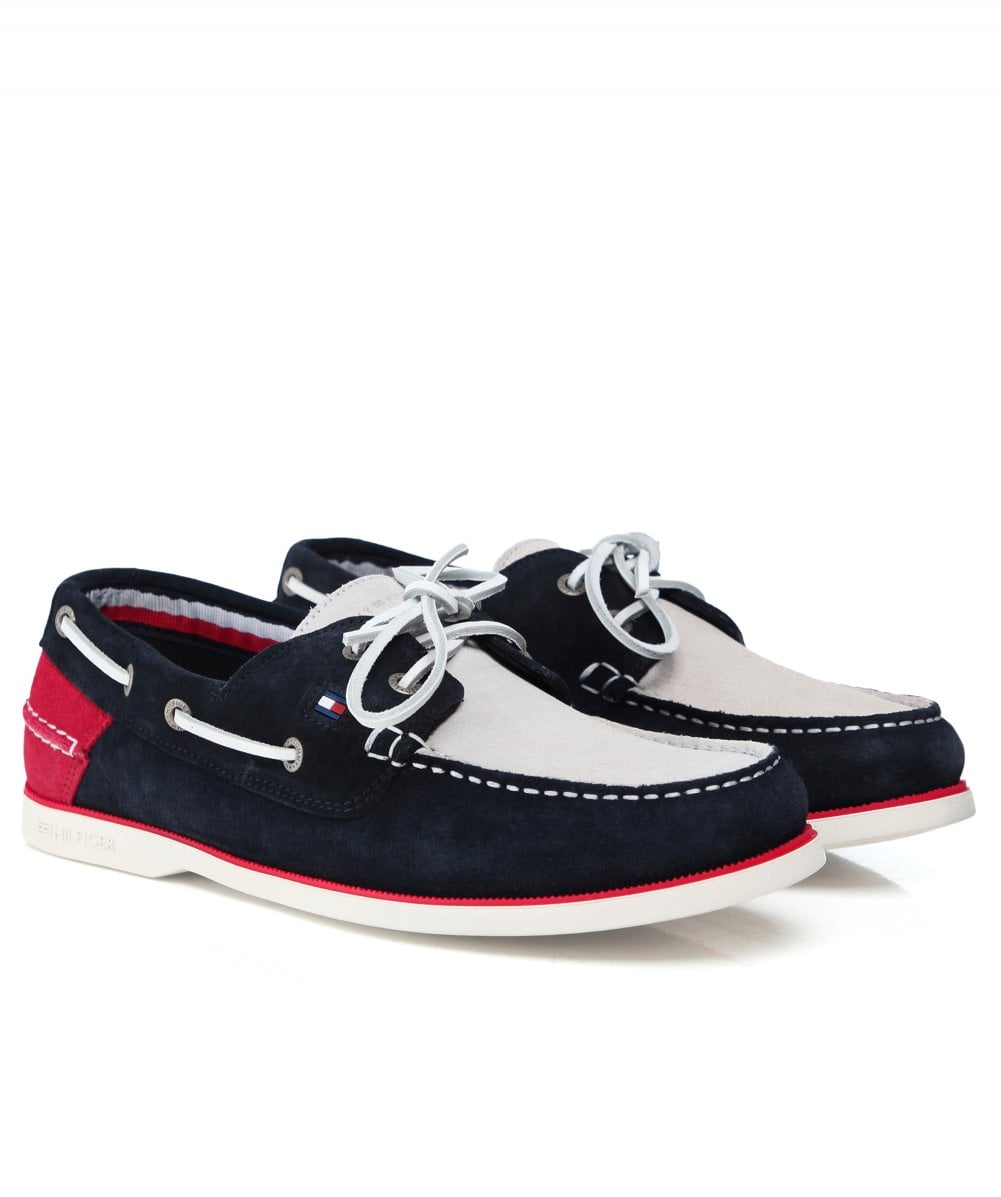 ef1b4044a Tommy Hilfiger Classic Suede Boat Shoes
