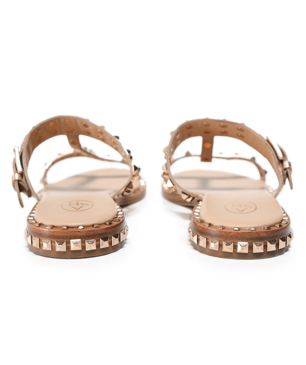 f49c6c57fa1f Ash Gold Leather Prince Studded Sandals