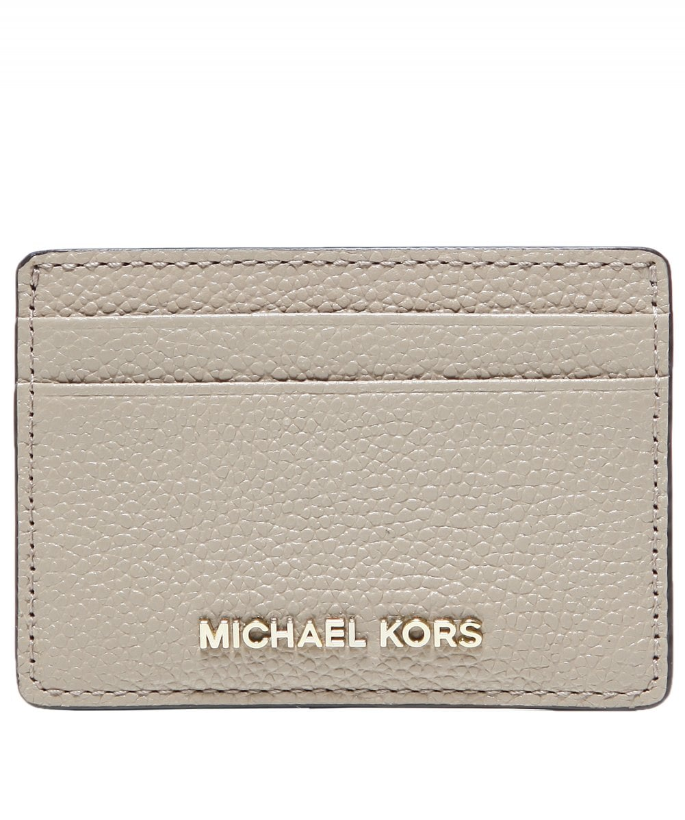 69970351a72f MICHAEL Michael Kors Brown Pebbled Leather Card Case | Jules B