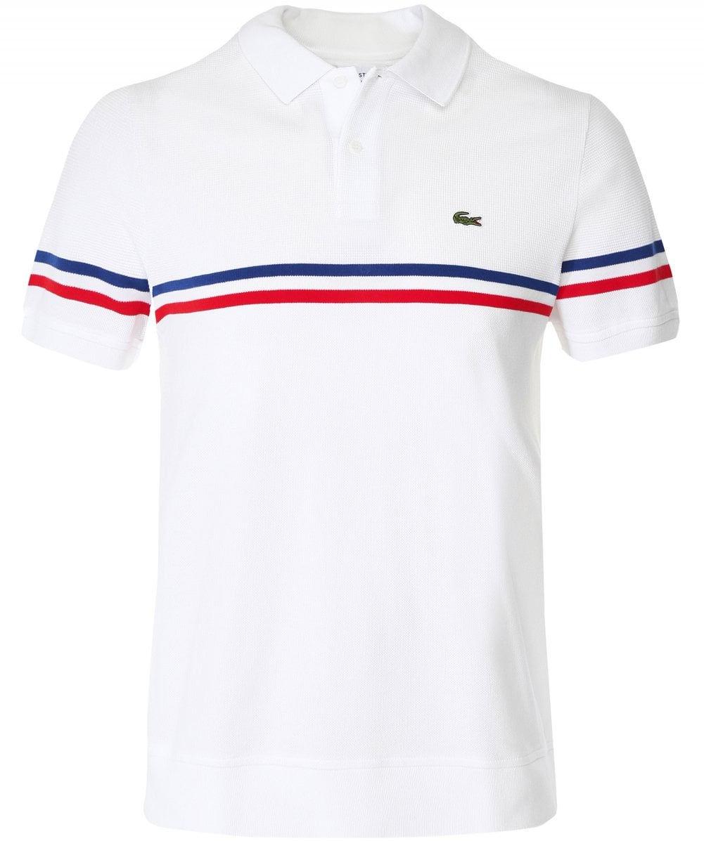 la mejor actitud ccd55 3ae63 Knitted Pique Tricolour Striped Polo Shirt