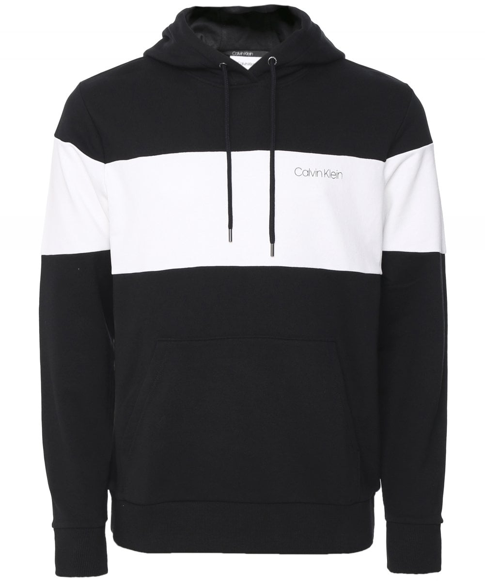 calvin klein hoodie black and white
