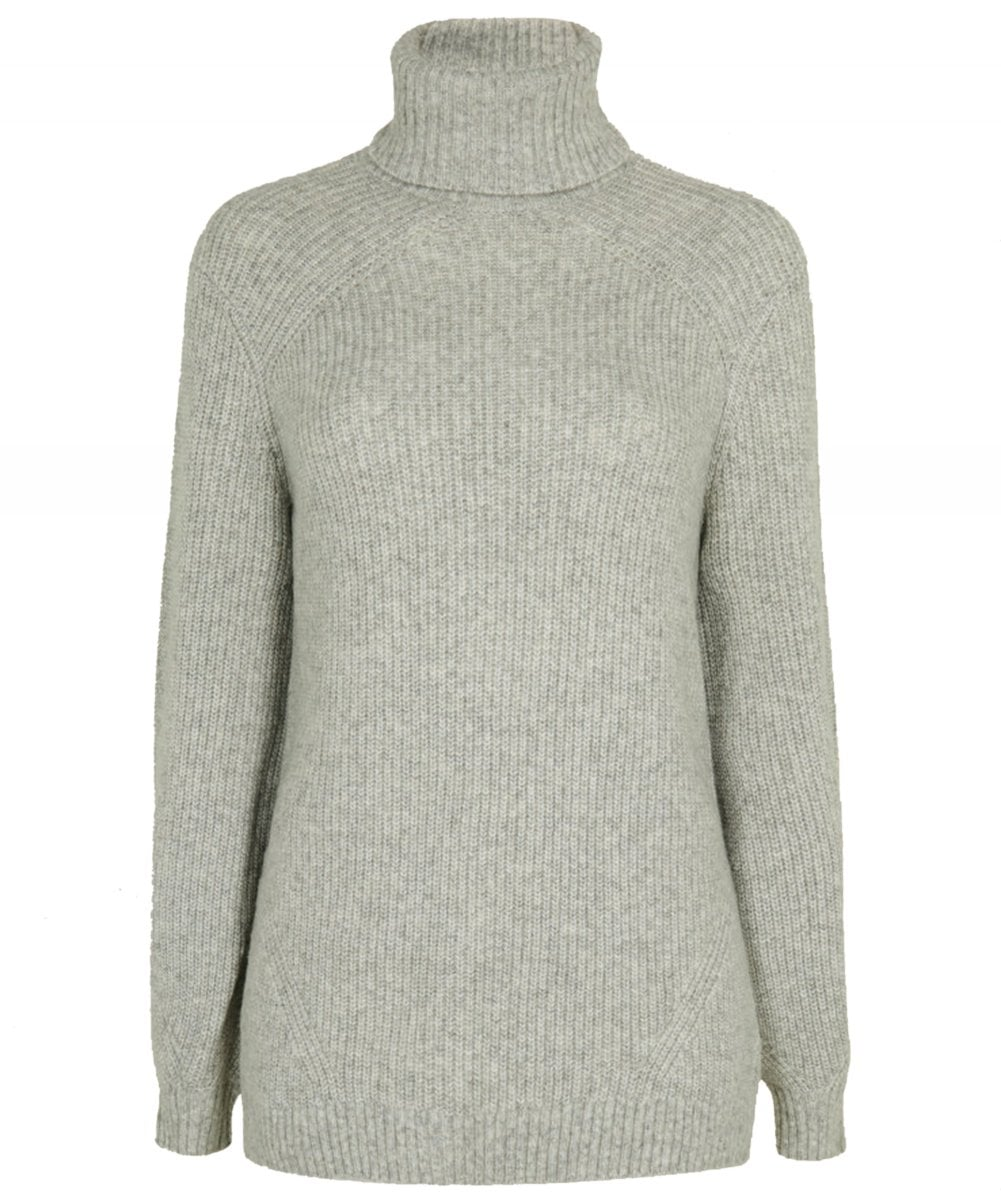 TB Roll Neck Knit Grey