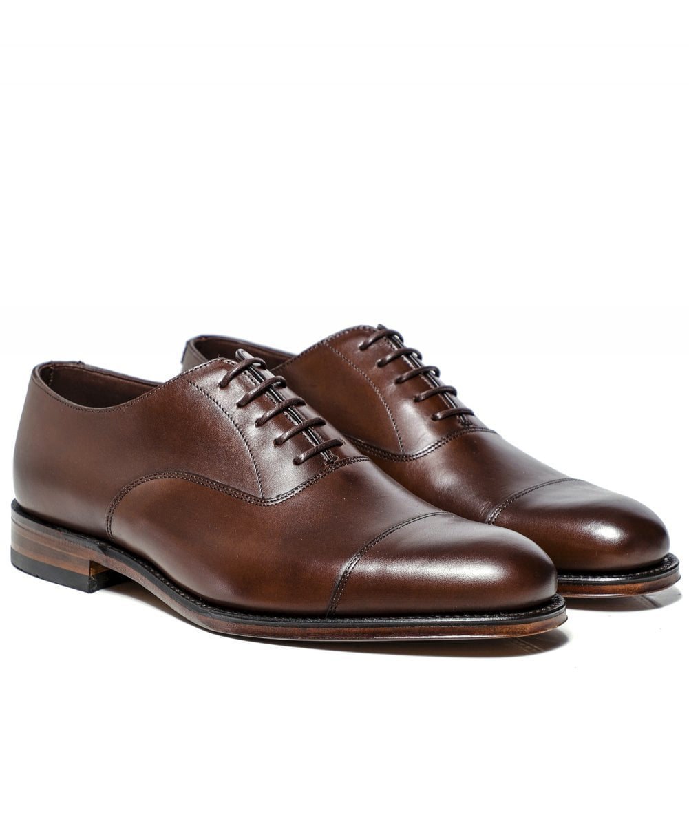 Loake Brown Leather Wadham Oxford Shoes