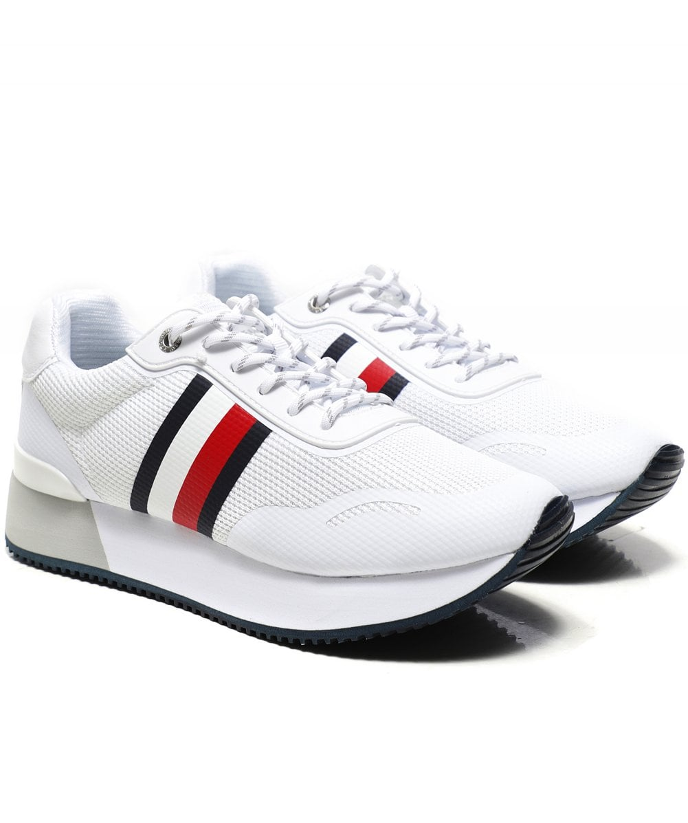 Tommy Hilfiger White Mesh City Trainers