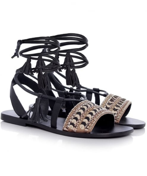 Tendenzza Egyptian Beaded Sandals