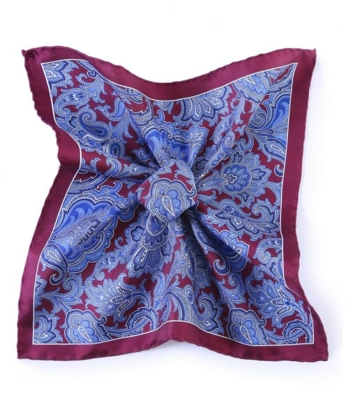 Jules B Paisley Silk Pocket Square