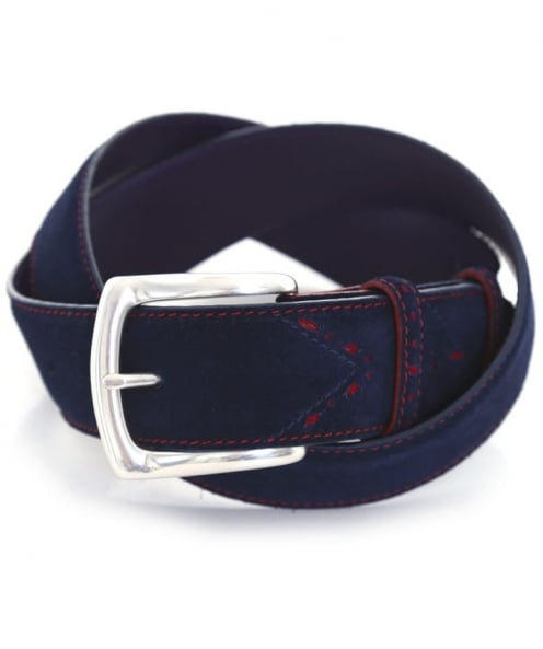 Elliot Rhodes Navy Suede Belt