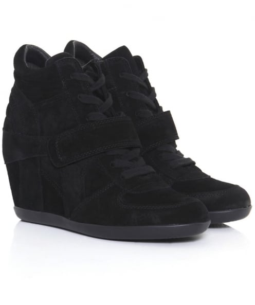 Ash Bowie Suede Wedge Trainers