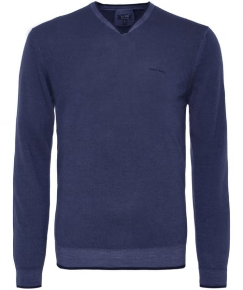 Armani Jeans Wool V-Neck Jumper