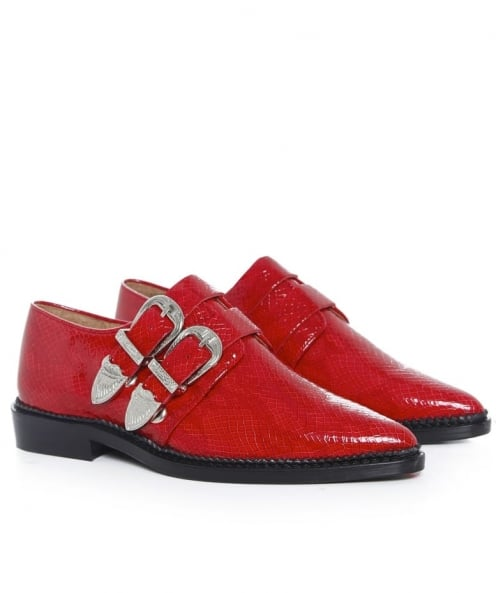 Toga Pulla Buckled Leather Brogues