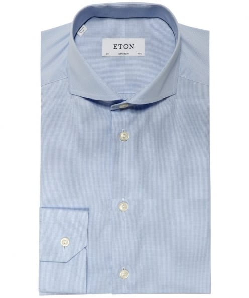 Eton Super Slim Fit Micro Houndstooth Shirt