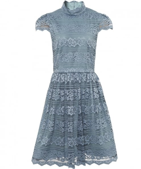 Alice and Olivia Maureen High Neck Lace Dress
