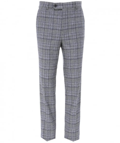 Jules B Virgin Wool Check Mautby Trousers