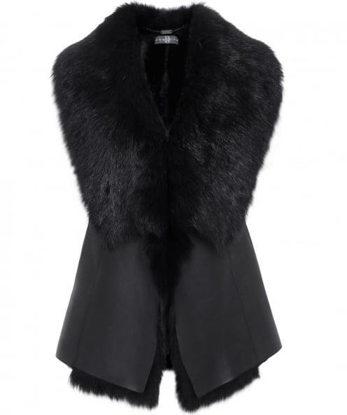 Dom Goor Waterfall Sheepskin Gilet
