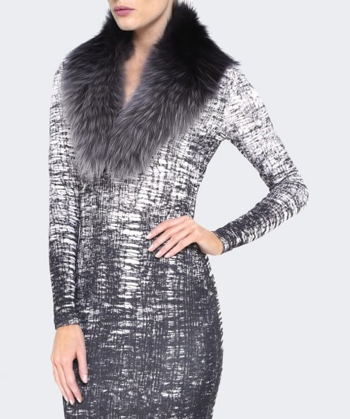Yves Salomon Tipped Fur Collar