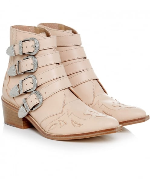 Toga Pulla Leather Buckle Boots