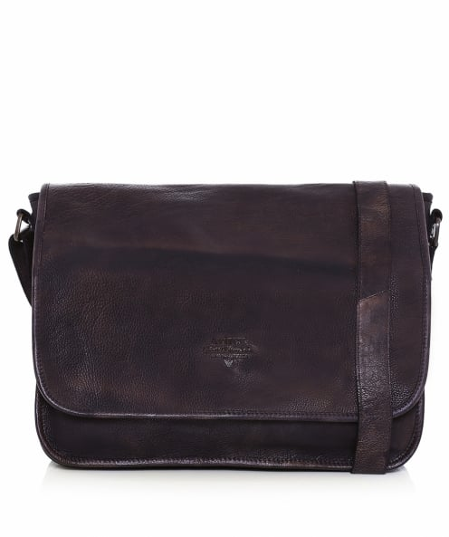 Avirex Leather Tigerfly Messenger Bag