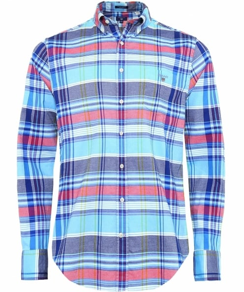 Gant Fitted Plaid Oxford Shirt