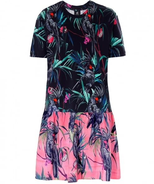 PS by Paul Smith Cockatoo Print Jersey Dress