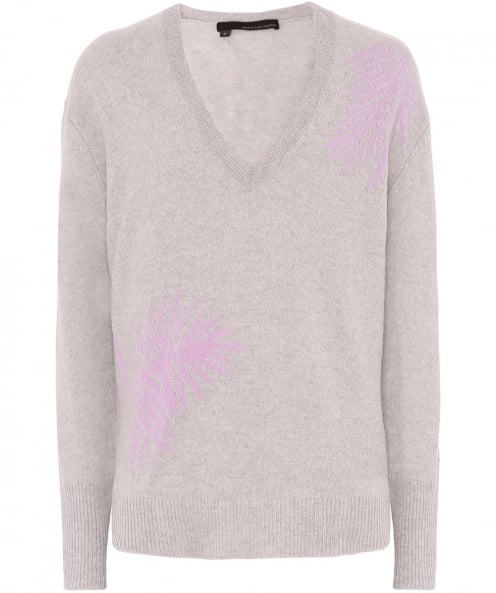 360 Sweater Cashmere Flaviana V-Neck Palm Jumper