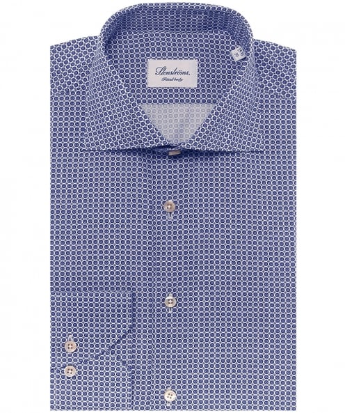 Stenstroms Fitted Printed Shirt
