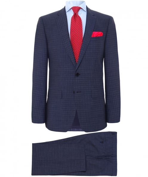 BOSS Slim Fit Virgin Wool Check Huge5/Genius3 Suit