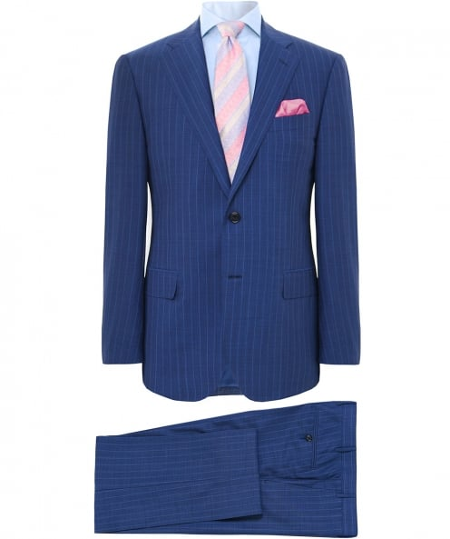 Corneliani Virgin Wool Striped Suit