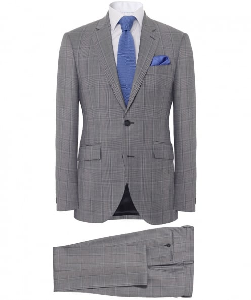Hackett Wool Check Suit
