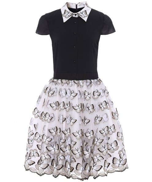 Alice and Olivia Dolly Butterfly Lace Dress