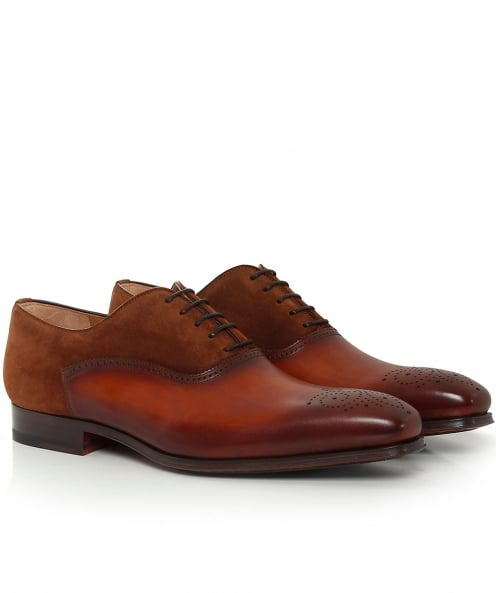 Magnanni Suede & Leather Oxford Brogues