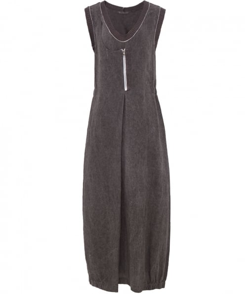 Crea Concept Linen Scoop Neck Maxi Dress