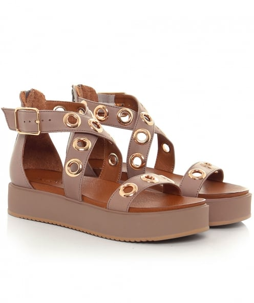 Inuovo Wedge Eyelet Sandals