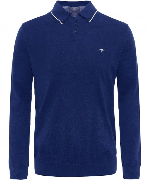 Fynch-Hatton Modern Fit Long Sleeve Polo Shirt