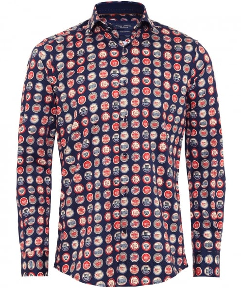 Guide London Bottle Top Print Shirt
