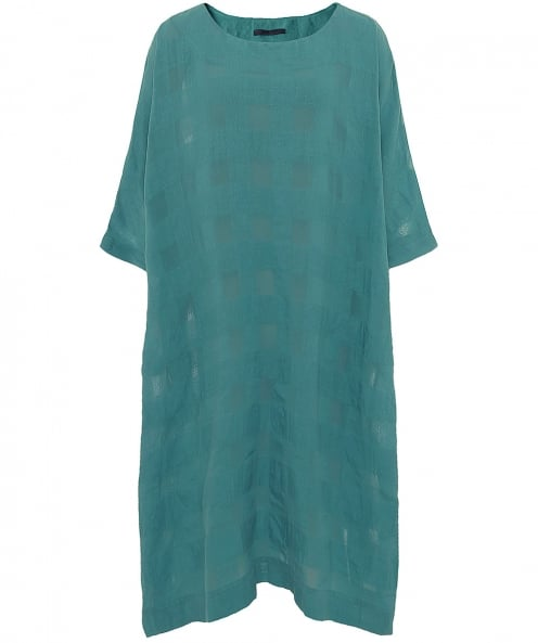 Crea Concept Seersucker Drape Tunic Dress