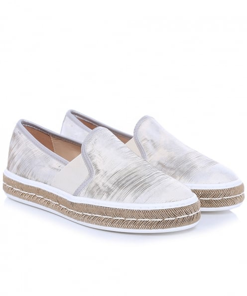 Peperosa Metallic Platform Slip On Trainers
