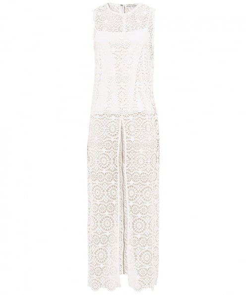 Alice and Olivia Gretchen Long Front Slit Tunic